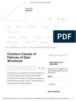 Common Causes of Failures of Dam Structures