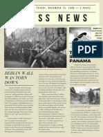 off white vintage newspaper style newsletter  1 -2