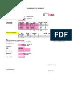 Bunker & FW Supply Checklist