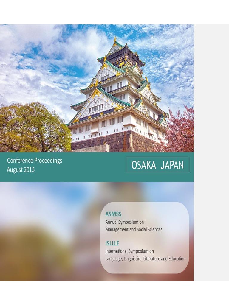 Osaka Proceedings Ss Asmss Isllle