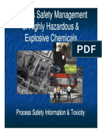 Process Safety Management of Highly Hazardous & Explosive Chemical