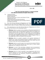 Deped Order No 11 s 2011 Amendment to Do No 88 s 2010