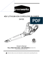 Greenworks 24102 Leaf Blower Manual