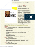 1989 - Gustavo Bueno, Cuestiones Cuodlibetales Sobre Dios y La Religión, Mondadori, Ma