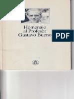 1990 - Homenaje Al Profesor Gustavo Bueno. Universidad de Oviedo