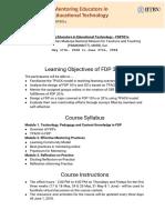 FDP301x Course Handout