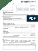 Formulario Socioeconomico Udep 2015