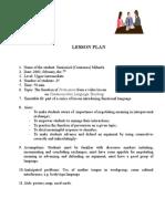 0 Lesson Plan
