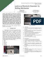 Speed Breaker Used as an Electricity Generator by Rolling Mechanism