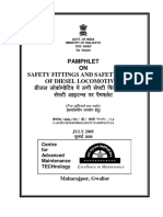 Pamphlet on Safety Fittings and Safety Items of Diesel Locomotives - English Hindi