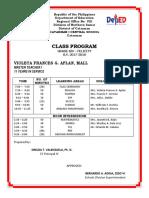 Class Program g6