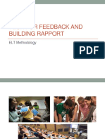 Tech for Feedback and Building Rapport