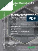 Tariffario Generale 2015