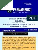As regras de nomenclatura binomial de Lineu e formas de classificação biológica (1).ppt
