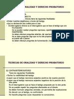Técnicas de Oralidad y Derecho Probatorio