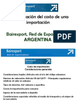 Costos Importacion Argentina