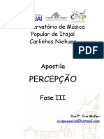 Apostila Percepção Musical III e IV