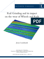Rail Grinding and Its Impact on the Wear of Wheels and Rails