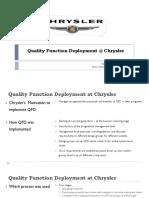 Quality Function Deployment @ Chrysler