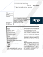 ABNT NBR 5361 - Disjuntores de Baixa Tensão 2008 (Em Vigor 08.12.2013)