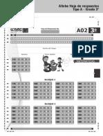 Afiche hoja de respuesta Tipo A Grado 3 2015.pdf