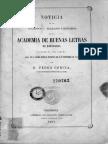 Noticia de Los Acuerdos y Trabajos Literarios
