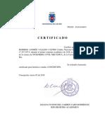 Certificado Alumno Regular 2018