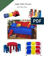 triadic kids room color scheme
