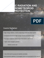 Cosmic Radiation and Micrometeoroid Protection