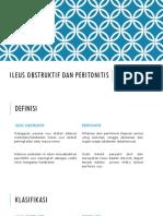 Ileus Obstruktif Dan Peritonitis