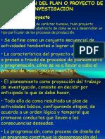 El Plan o Proyecto de Investigación