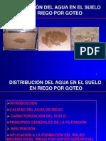 Distribución Del Agua en El Suelo en Riego Por Goteo