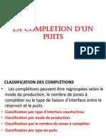 LA COMPLETION Laison Couche-trou