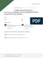 Integracion Semi-Analitica de La Matriz de Rigidez