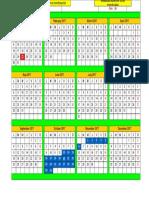 Plantilla Calendario Parto