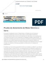 Prueba de Aislamiento de Motor Eléctrico a Tierra - Reliabilityweb_ a Culture of Reliability
