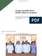 20-11-2016 Preside Astudillo Flores Desfile Militar en Acapulco.