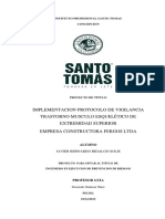 IMPLEMENTACION PROTOCOLO DE VIGILANCIA TRASTORNO MUSCULO ESQUELÉTICO DE EXTREMIDAD SUPERIOR