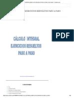 (1) Cálculo Integral Ejercicios Resueltos Paso a Paso _ Melvin Alfaro - Academia