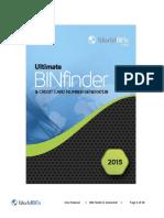 Bin Finder 2015 User Manual