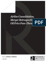 Airline Consolidation, Merger Retrospectives, and Oil Price Pass-Through
