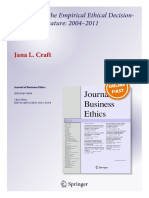 43679 Review of Empirical Ethical Decision Making Literature 2004 2011 Author Copy(1)