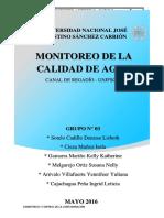 Grupo3_Informe de Campo1_Monitoreo de La Calidad de Agua en Canal de Regadio UNFSC_30!05!2016