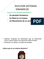 INTRODUCCION SISTEMAS DINAMICOS