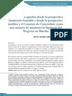 Analisis de La Quiebra Isabel Aroyo