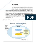 Esquema analítico do conceito de educação