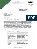 Flint Sanitary Survey Cover 8-17