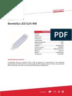 Bombilla LED G24 9W