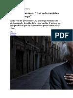 Zygmunt Bauman Las Redes Sociales Son Una Trampa