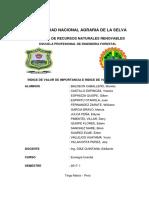 INDICE DE VALOR DE IMPORTANCIA ECOLOGIA